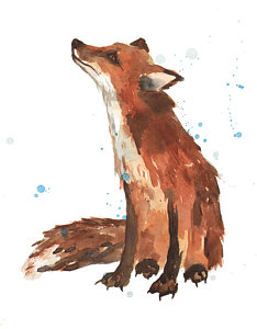 234x300 Quiet Fox Painting By Alison Fennell
