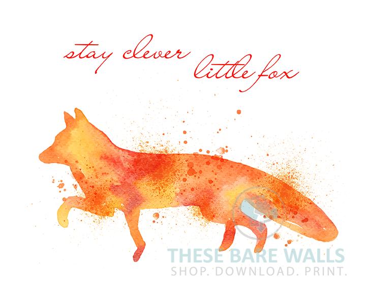 720x576 Watercolor Fox