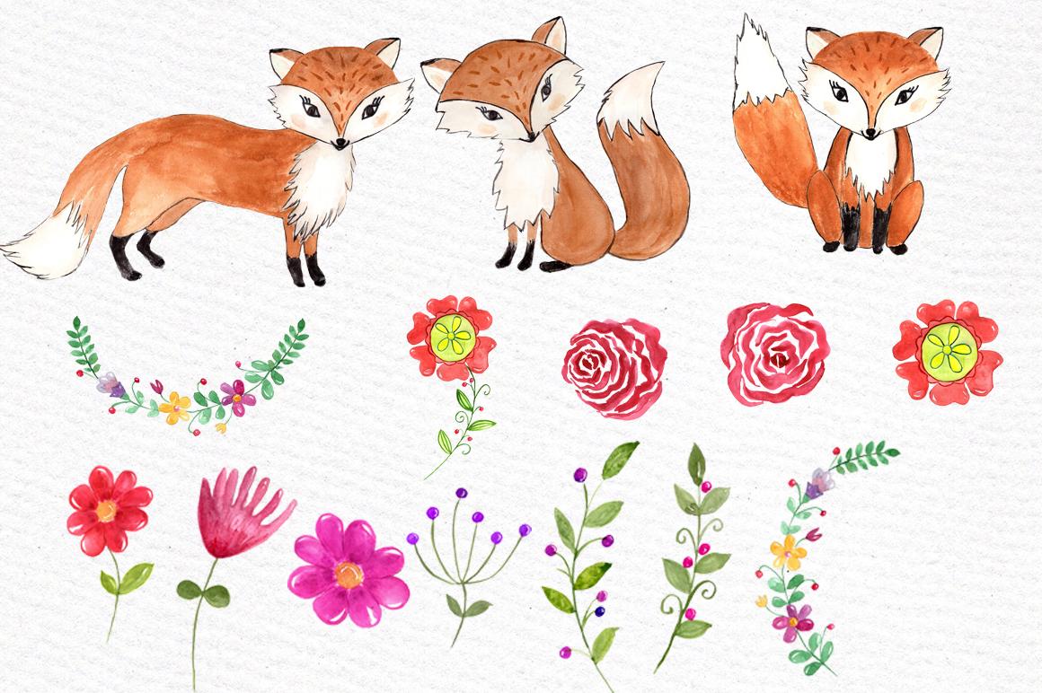1160x772 Watercolor Fox Clipart By Vivastarkids