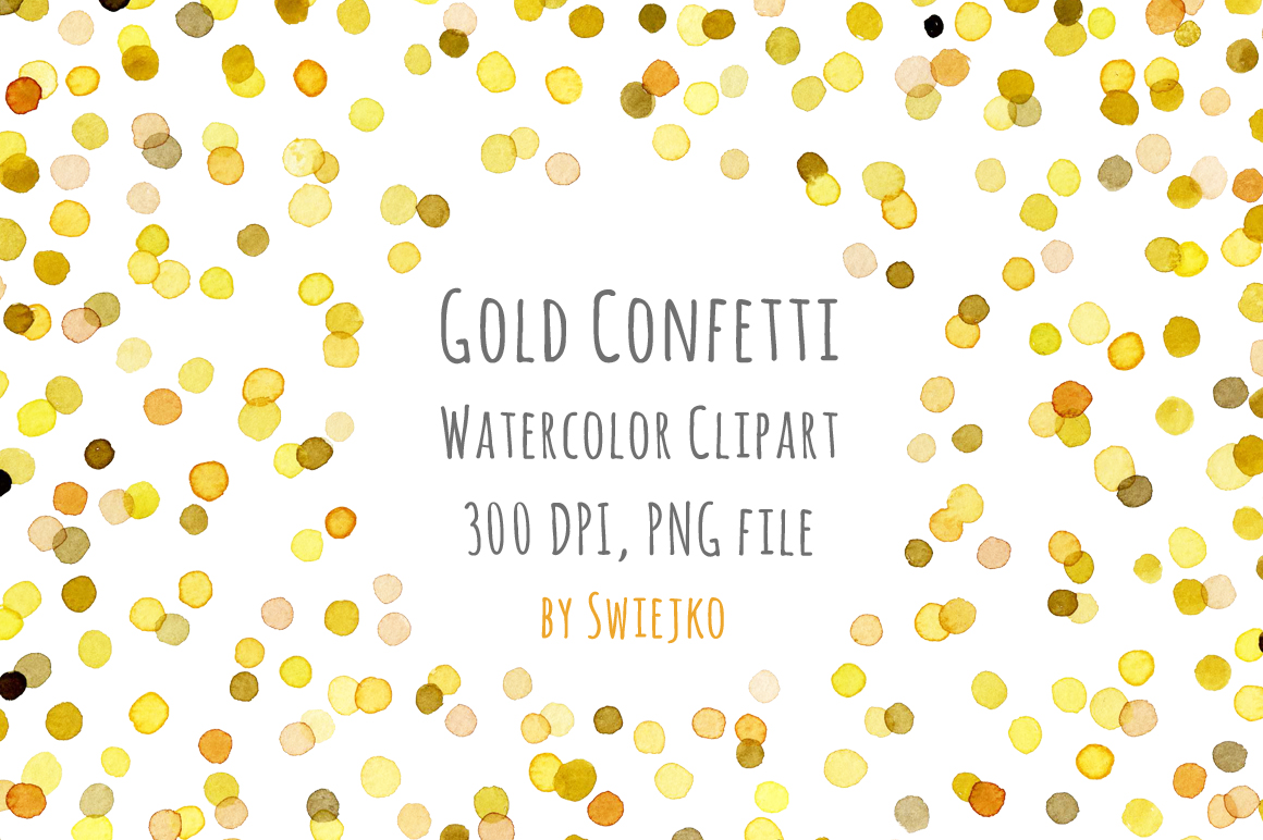 1160x772 watercolor clipart digital confetti frame new year christmas