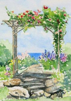 Watercolor Garden