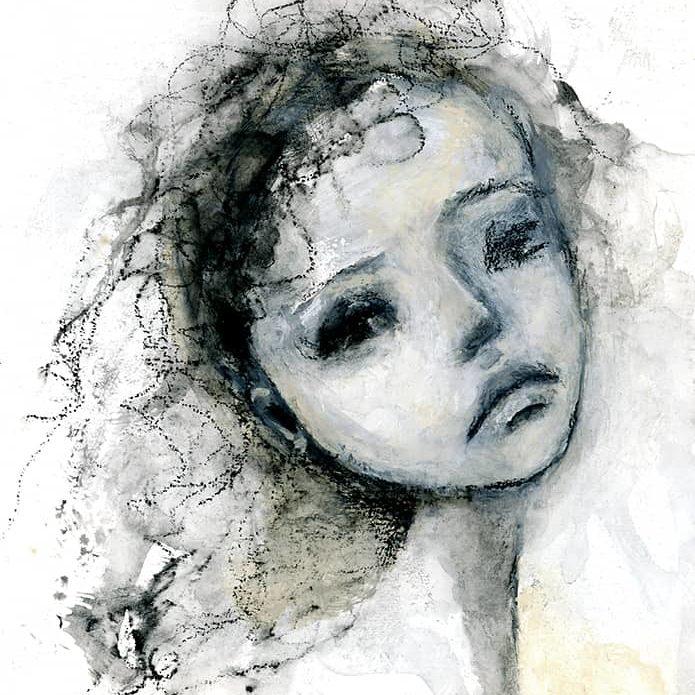 Watercolor Girl Face