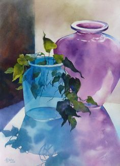 Watercolor Glass Painting