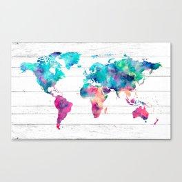 264x264 Watercolor Globe Canvas Prints Society6