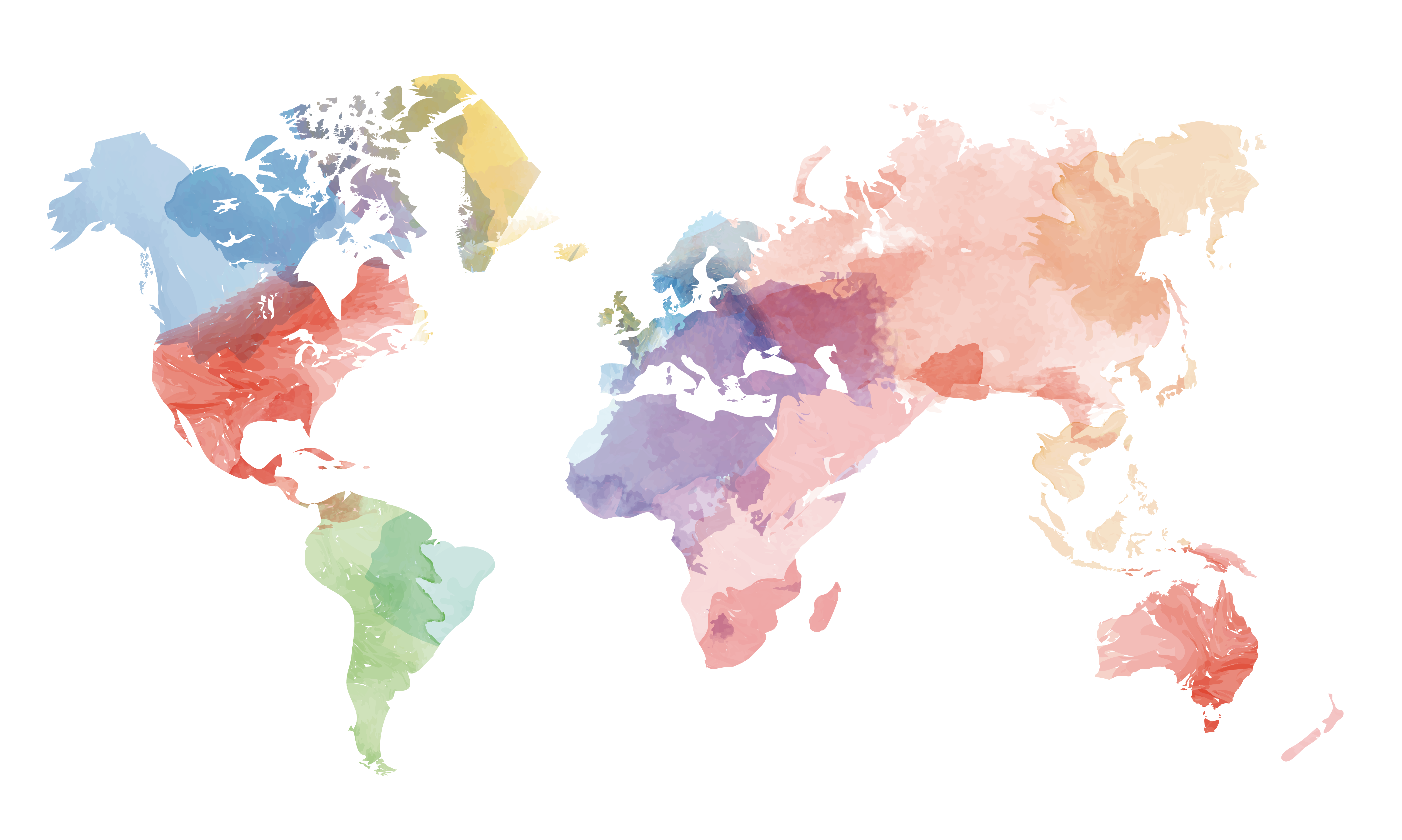 6024x3612 Collection Of Free Vector Globe Watercolour. Download On Ubisafe