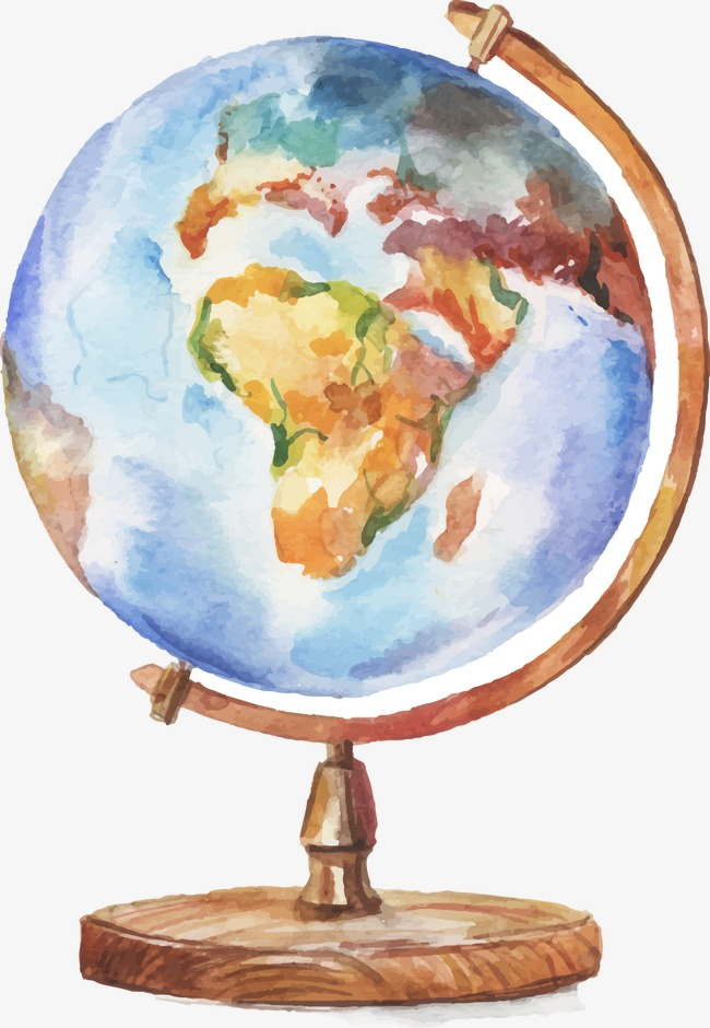 650x940 Drawing Globe, Watercolor, Globe, Decoration Png And Vector For