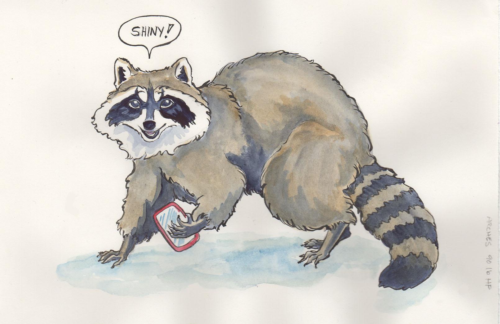 1610x1044 Testing Watercolour Paper With Renfrew The Raccoon Karen