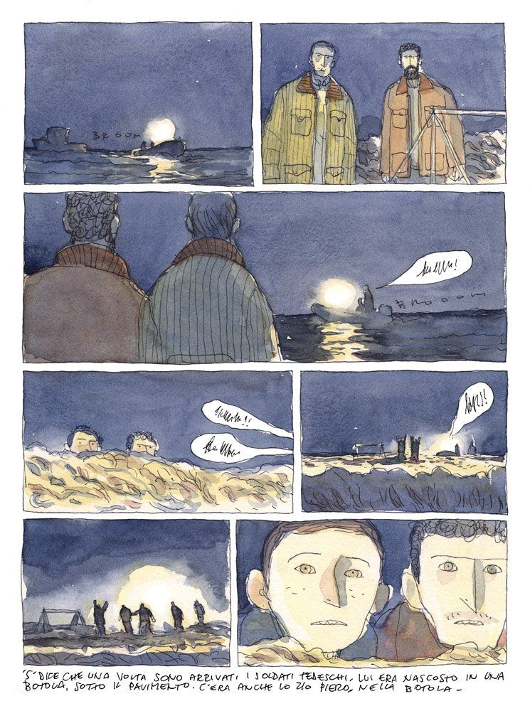 745x1000 Nice Loose Watercolor Style Graphic Novel. ~gipi Illustration