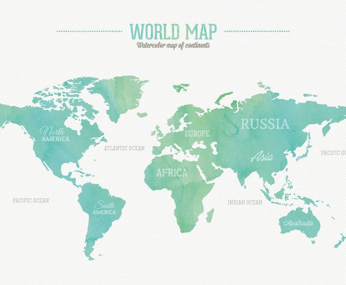 1136x936 Watercolor World Map Vector Art Amp Graphics