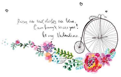 500x321 Watercolor Flower Wedding Invitation Vector Graphics 02 Free Download