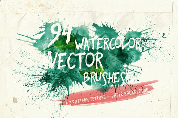580x386 70 Beautiful Watercolor Graphics, Effects, Brushes, And More