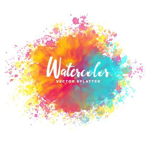 490x490 Colorful Watercolor Splash Vector Background