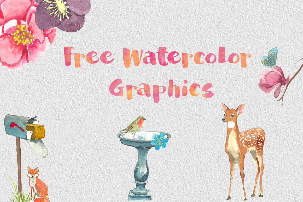 1160x772 Dlolleys Help Free Psd Watercolor Graphics Pack