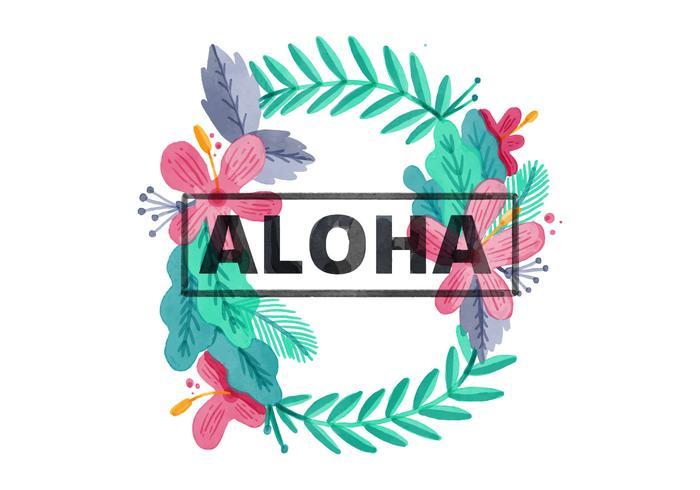 700x490 Free Hawaiian Lei Watercolor Background