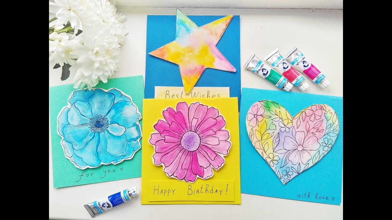 Watercolor Greeting Card Ideas At Getdrawings Free For