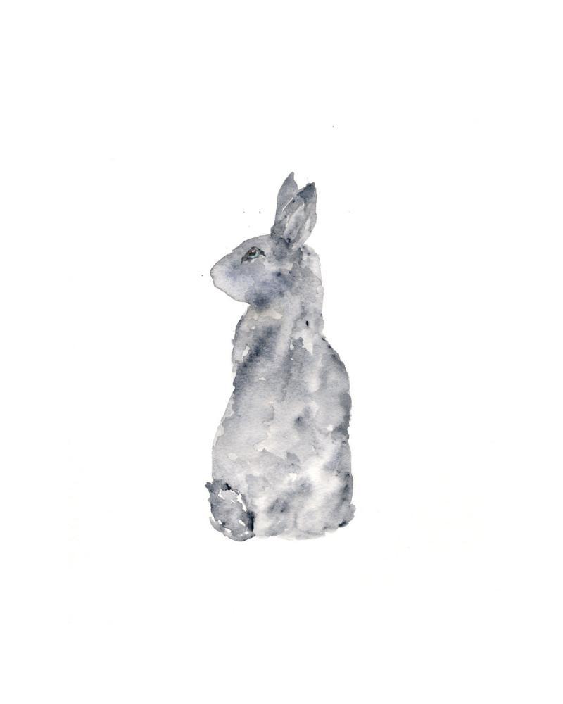 800x1000 Rabbit Art, Rabbit Painting, Watercolor By Thimblesparrow On Zibbet