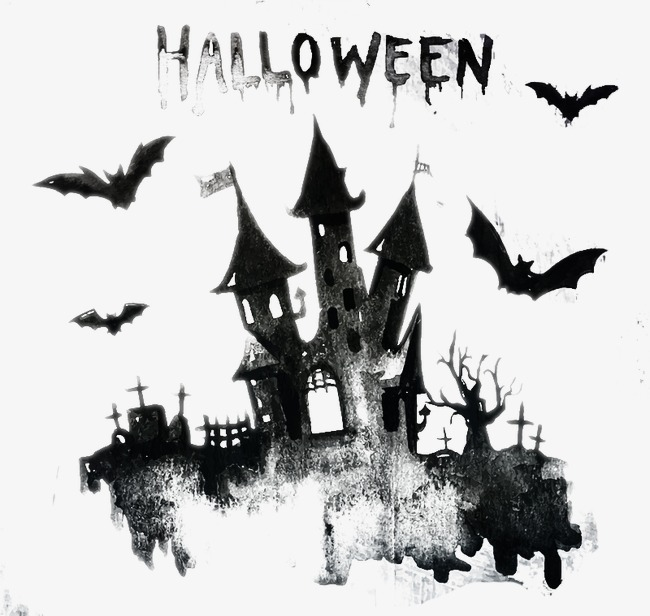 650x616 Halloween Castle, Watercolor, Halloween, Castle Png And Vector For