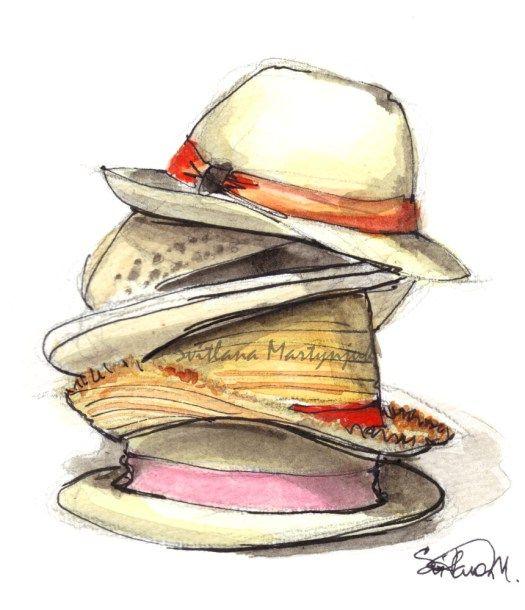 Watercolor Hat