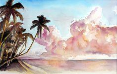 Watercolor Hawaii