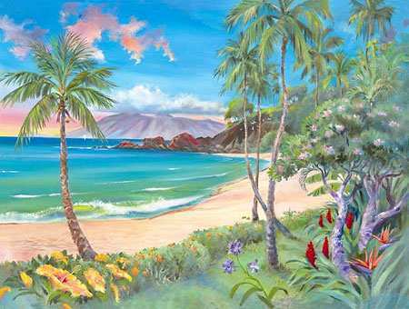 450x340 Hawaii Painting New Watercolor Painting Painting Ideas