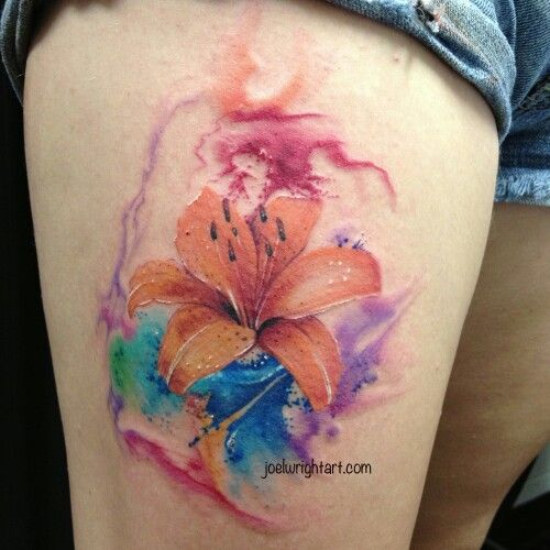 500x500 Watercolor Hibiscus Tattoo Everything...but Food!