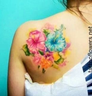 311x322 Watercolor Hibiscus Tattoo... Sweet Tattoos