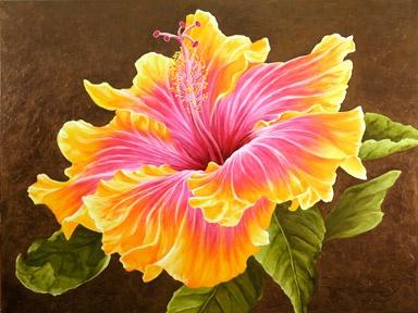 384x288 Watercolor Hibiscus