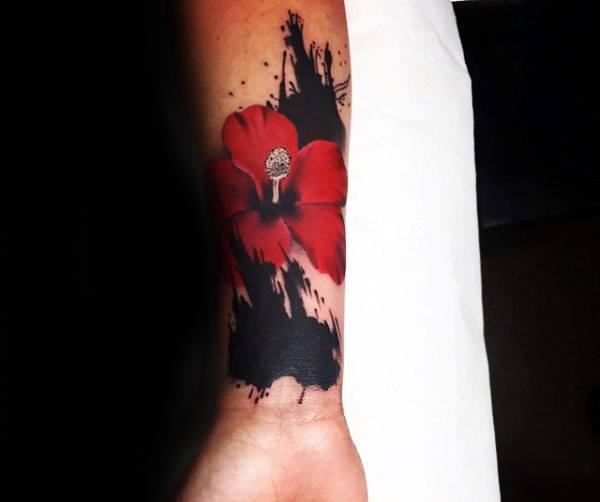 600x502 80 Hibiscus Tattoo Designs For Men