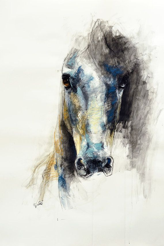 Watercolor Horse Head