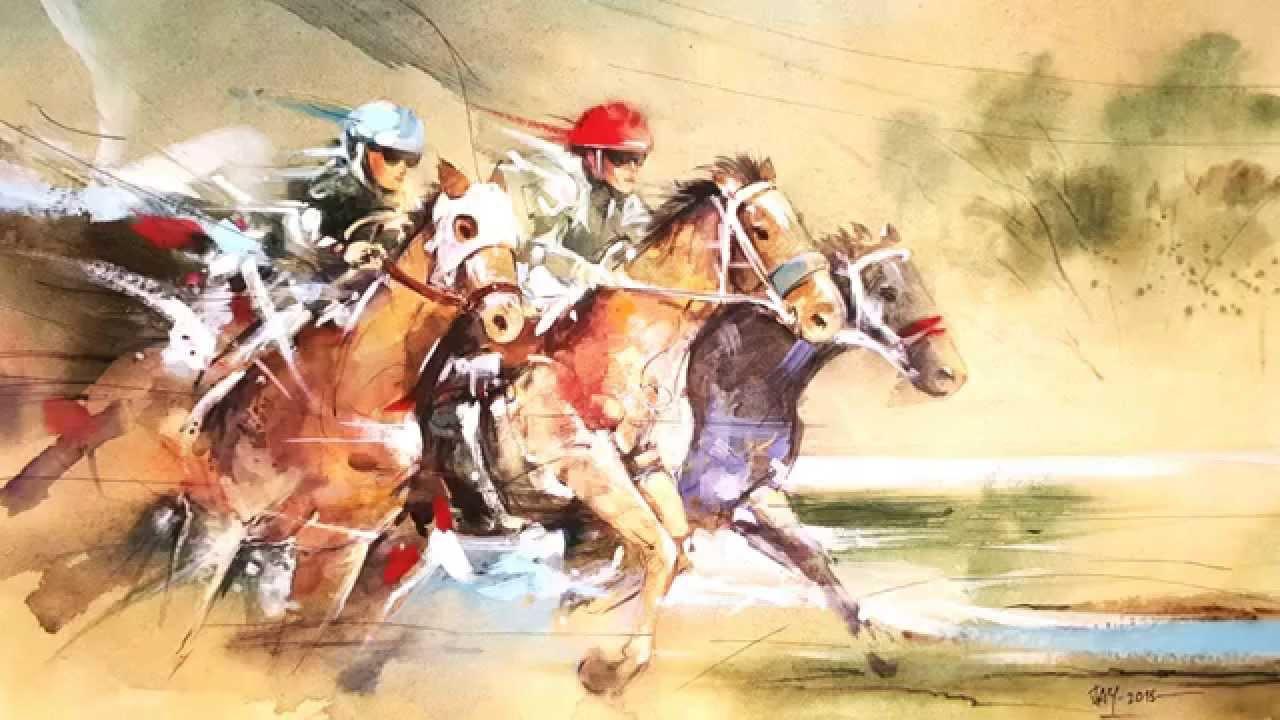 1280x720 Horse Racing
