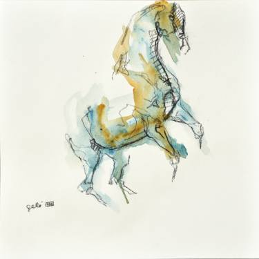 375x375 Original Horse Watercolor Paintings For Sale Saatchi Art