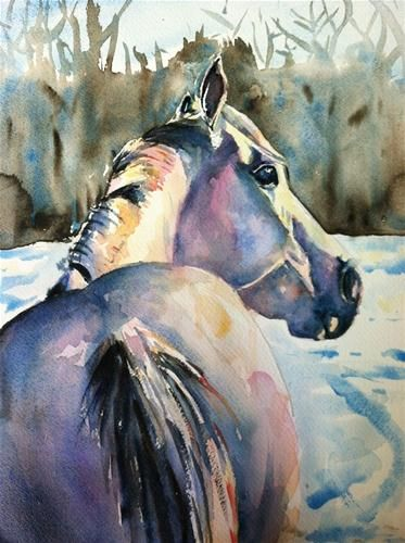 373x500 Touch Of Grey By Maria Reichert Artwatercolor