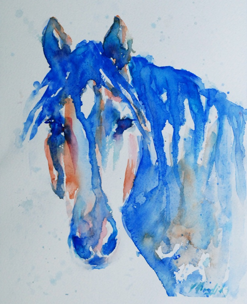 812x1000 Vicki Wood, Jd Sweet Eyes... Horse Watercolor Painting