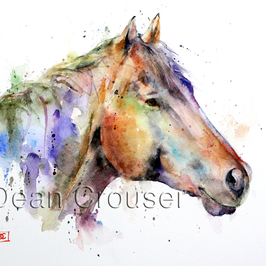 900x900 Watercolor Horse Paintings