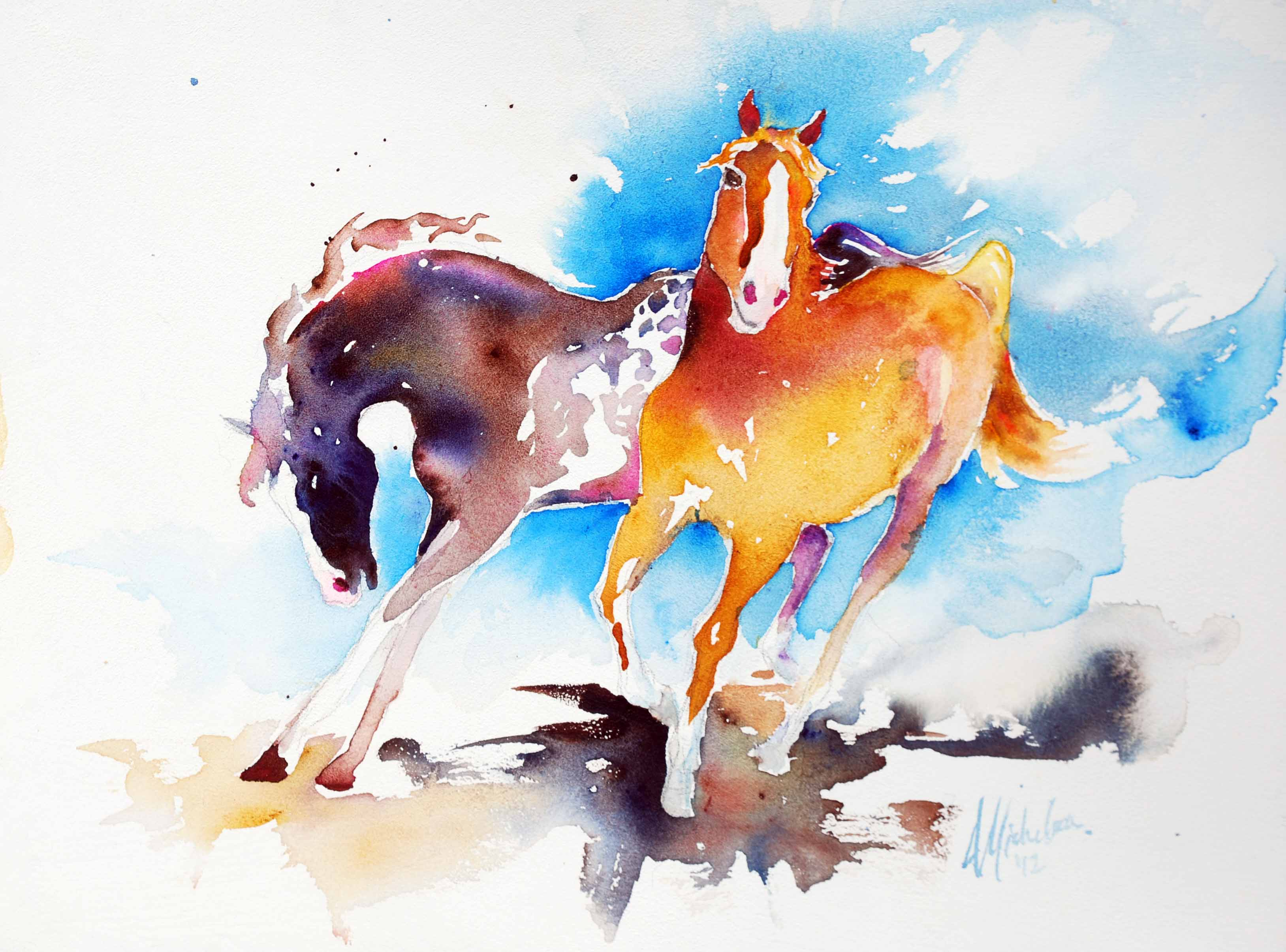 3256x2412 Wild Spirits Horse Painting Bright Spirit Studio