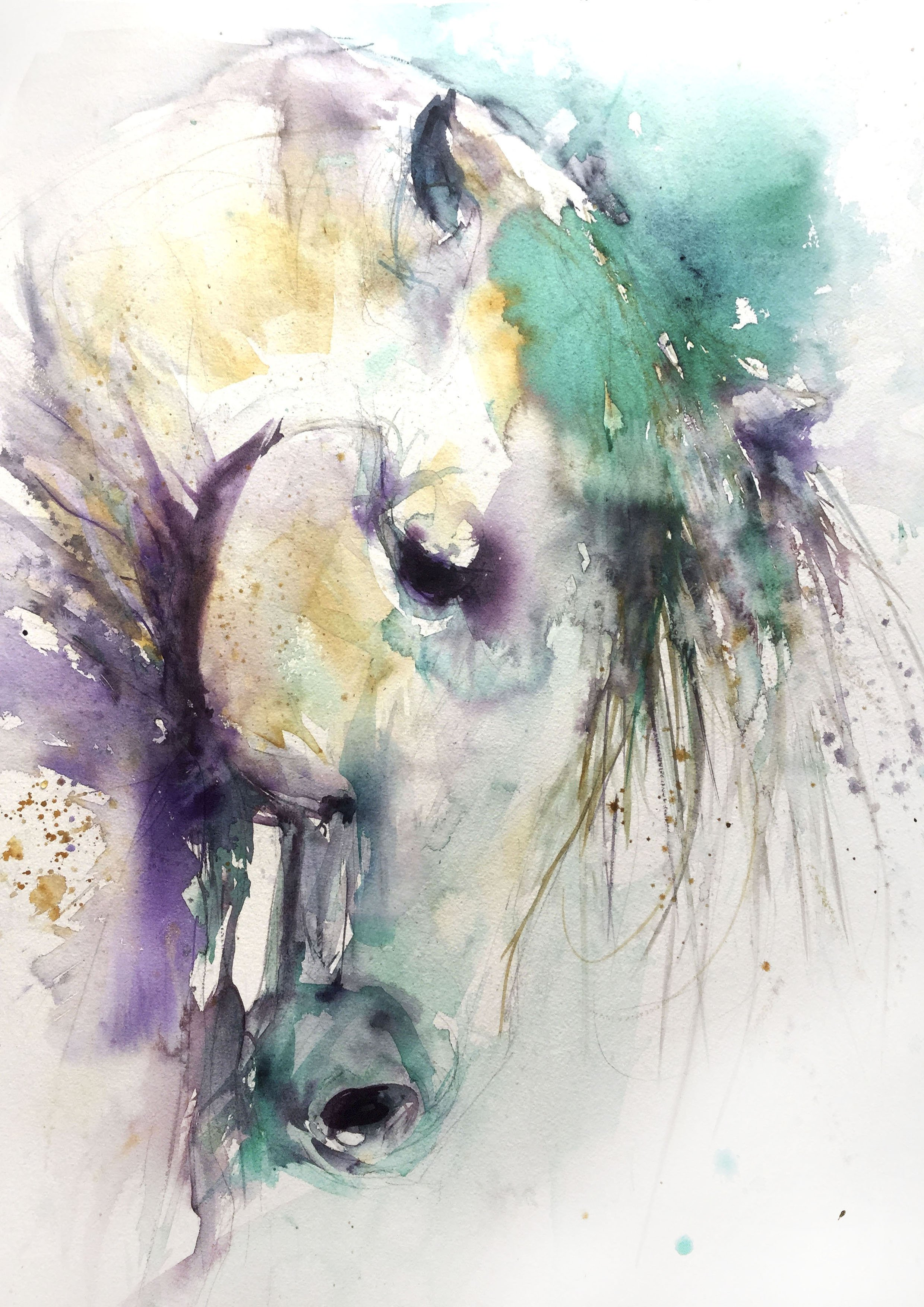 2480x3507 Signed Limited Edition Print From Original Horse Watercolour Painting