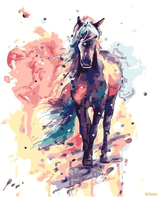 512x640 Water Color Horse Horse Splash Splash Horse Horses Image And