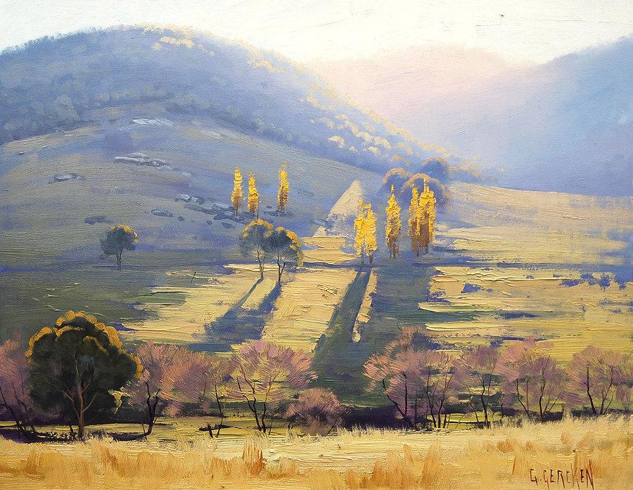 900x697 Impressionist Landscape Painting By Artsaus