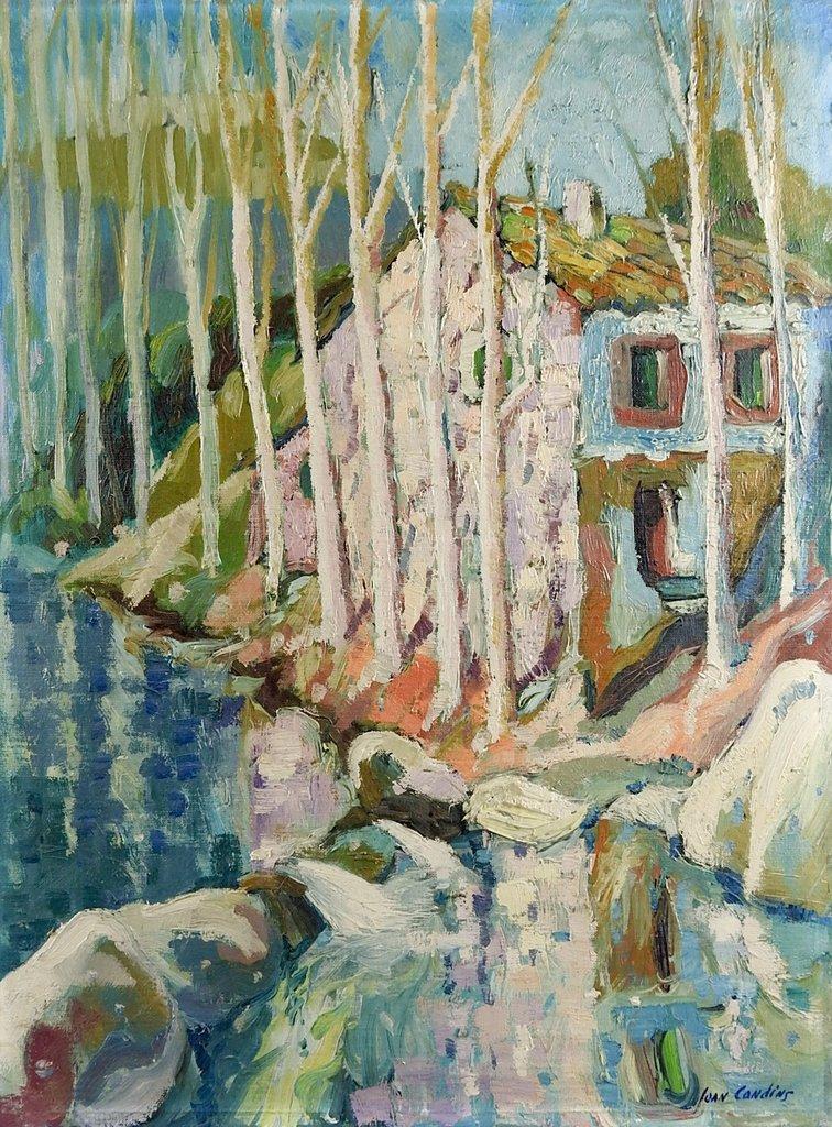 756x1024 Joan Condins Impressionist Landscape Painting Artifax Antiques