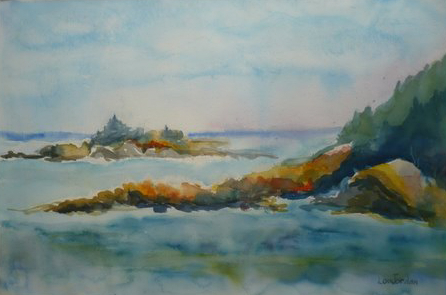 446x295 Lou Jordan Fine Art Watercolor Impressionist Landscape, Seascape