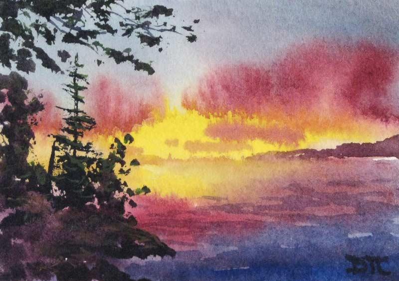 800x563 Artist Derek Collins Blog, Modern Impressionist Landscape