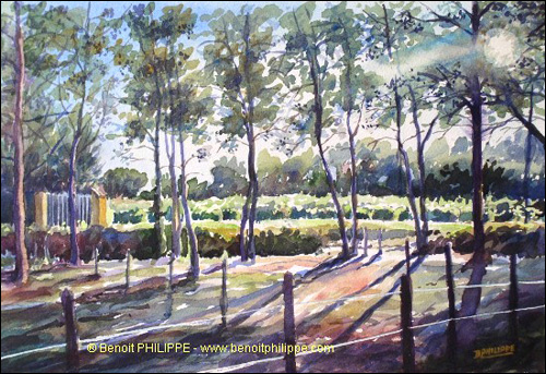 500x343 Benoit Philippe Impressionist Watercolor Paintings From The