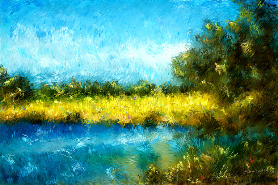 900x600 Canola Fields Impressionist Landscape Painting Painting By
