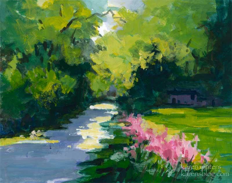 800x631 Descanso Gardens Path California Impressionist Landscape