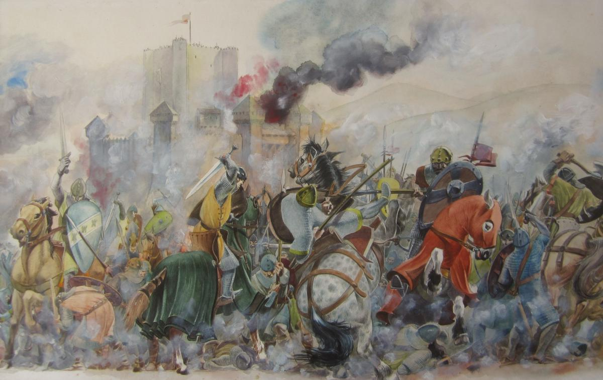 1200x757 French School Of The Twentieth Century, Medieval Battle