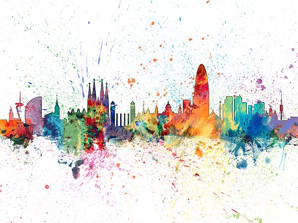 600x450 Barcelona Barcelona Skyline Skyline Of Paris Spain Gaudi Urban