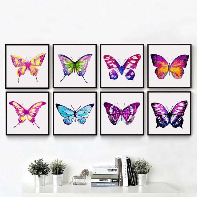 640x640 Fghgf Watercolor Insects Beautiful Colorful Butterfly Canvas