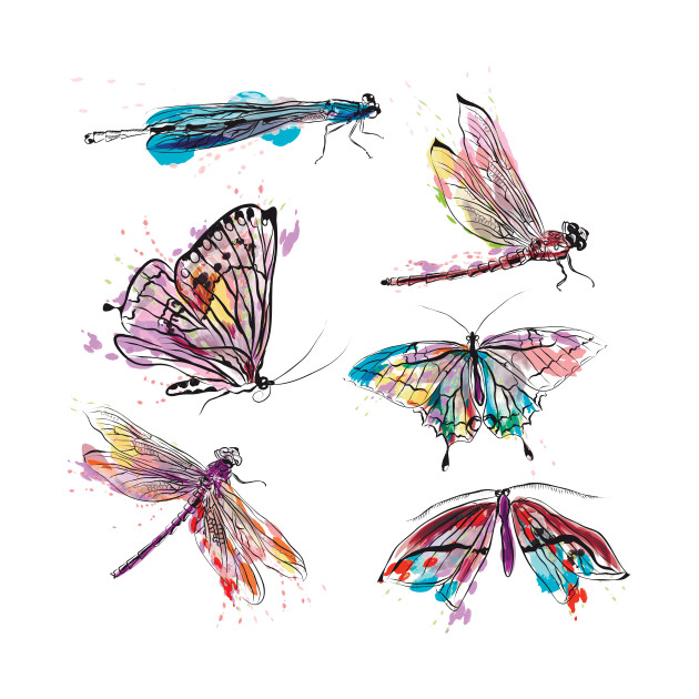 630x630 Watercolor Insects