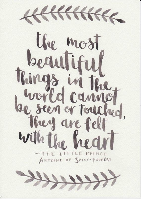 570x806 Love Quote The Little Prince Quote Original Watercolor Painting