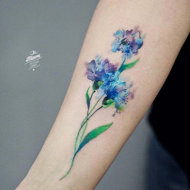 03f57b4b658e1 Watercolor Iris Tattoo at GetDrawings.com | Free for personal use ...
